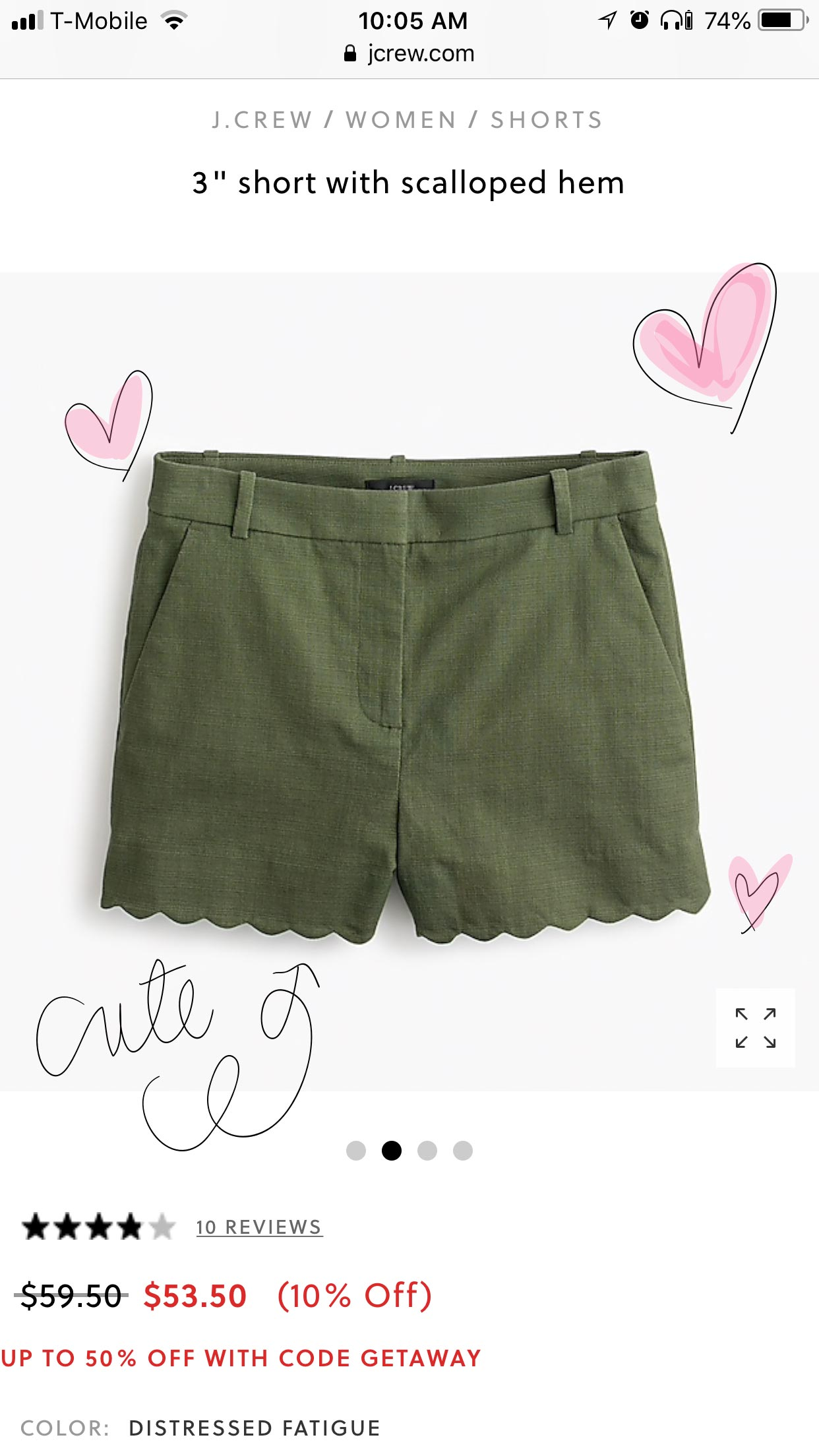j crew scallop shorts