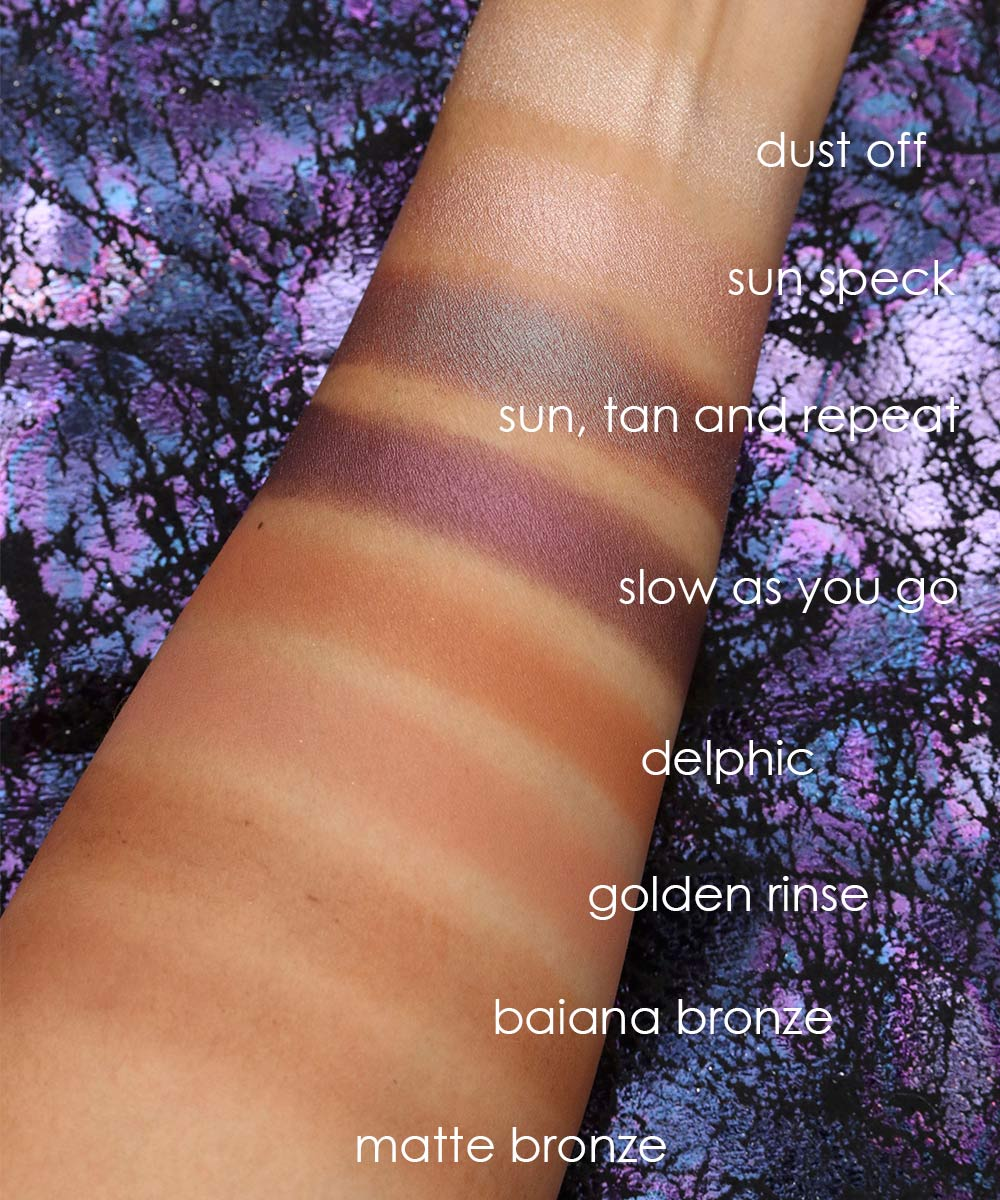 mac mirage noir swatches eyeshadow bronzer