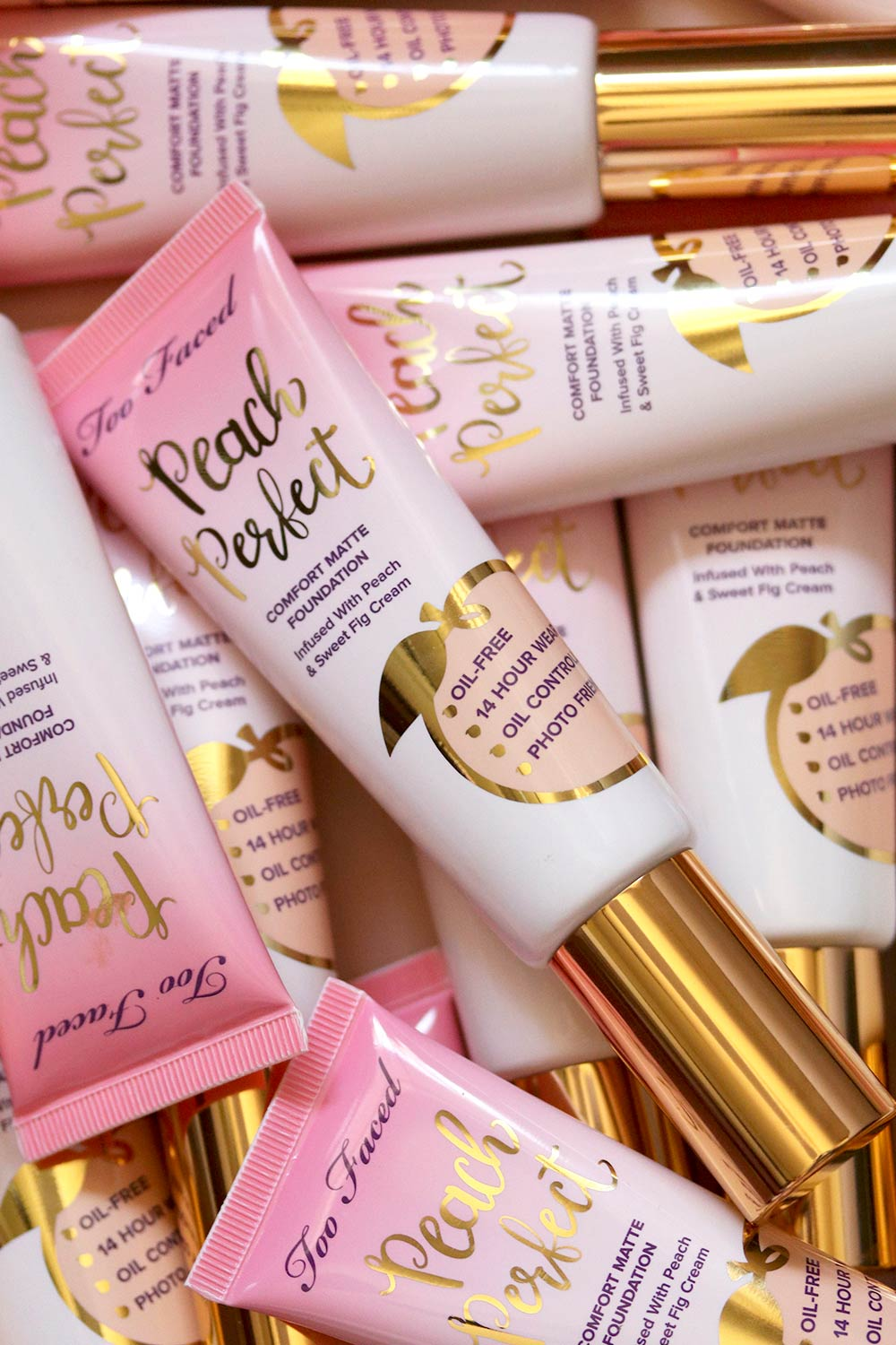 too faced peach perfect foundation review