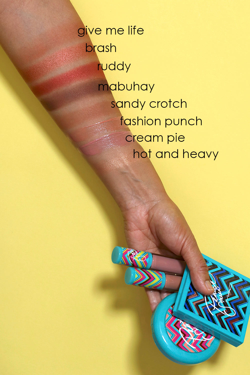 mac summer starrr swatches