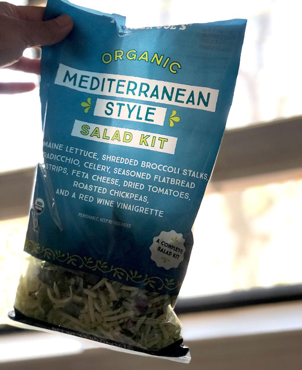 trader joes organic mediterranean style salad kit