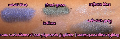 mac-curiositease-5-cool-glitter-pigment-swatches