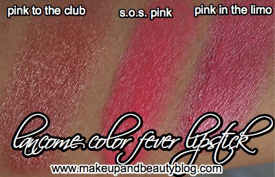 lancome-color-fever-lipstick-pink-swatches