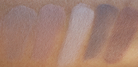 bobbi brown cosmetics quick face long wear cream shadow swatches