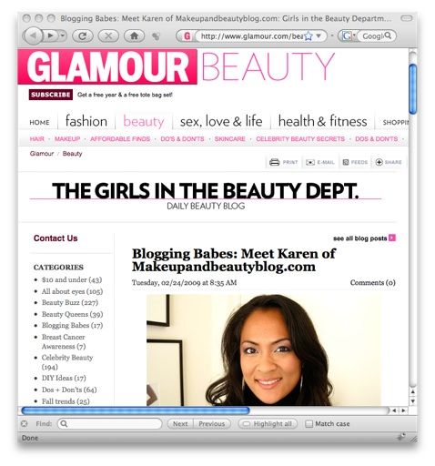 Glamour Beauty Blog Interviews Makeup and Beauty Blog