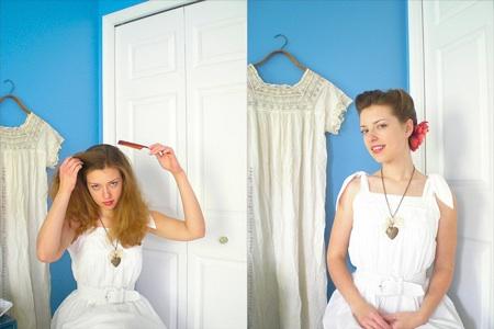 A Retro Modern Hairstyle Tutorial