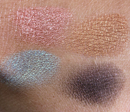 Stila Indian Summer 2009 Charmed Eyeshadow Palette swatches