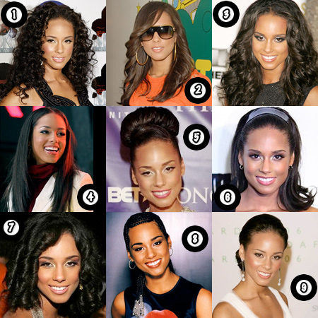 Alicia Keys hairstyle poll