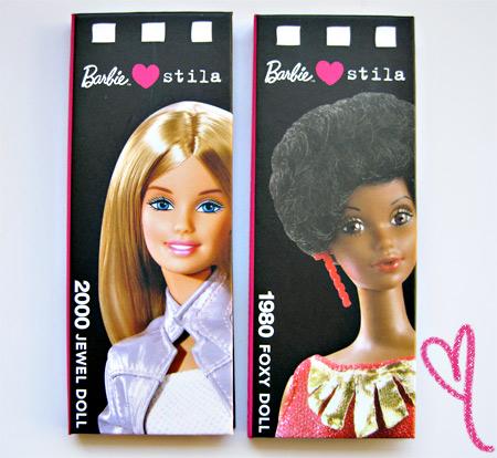 Barbie Loves Stila Jewel Doll Foxy Doll Palettes
