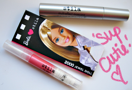 Barbie Loves Stila Jewel Doll Palette Jewel Lip Glaze Multi Effect Mascara