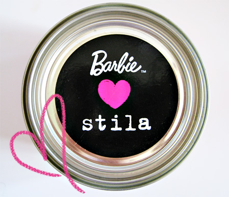 Barbie Loves Stila Can top view
