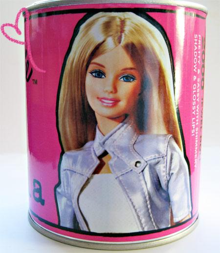 Barbie Loves Stila Jewel Doll Can Side