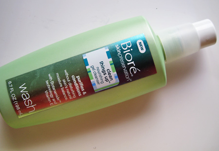 biore clean things up nourishing gel cleanser