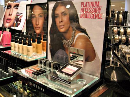 Bobbi Brown Platinum Collection Display