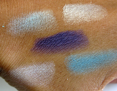 dior cristal collection electric lights palette swatches no flash
