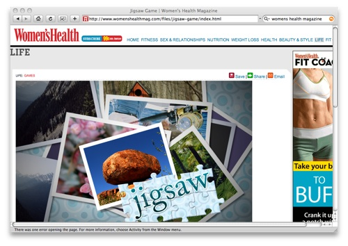Womens Health jigsaw game