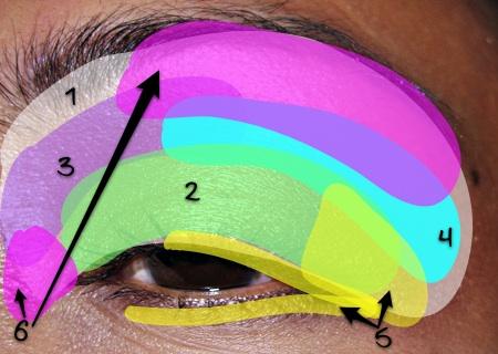 mac cosmetics amber lights eyeshadow fotd eye map