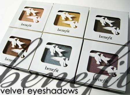 benefit velvet eyeshadows