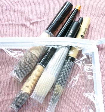 Makeup brush storage ideas