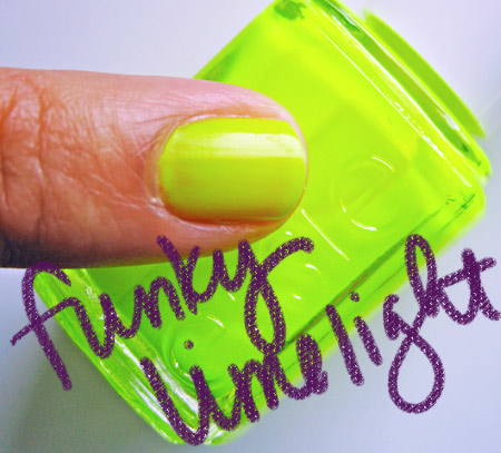 essie neon 2009 funky limelight