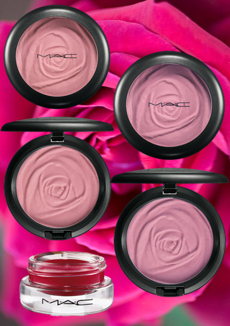 mac a rose romance beauty powders and gel blush