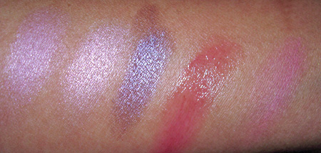 mac a rose romance swatches just a pinch summer rose et tu bouquet of summer circa plum