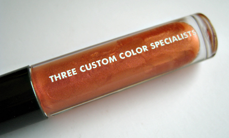 three custom color specialists seychelles peachock flower lip gloss