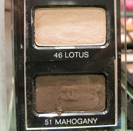 les naturels de chanel lotus and mahogany eyeshadows
