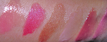 smashbox limitless long wear lip gloss swatches