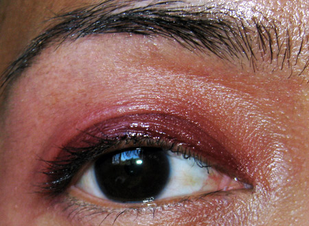 chanel venice collection fall 2009 swatches reviews eye gloss burgundy