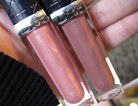 dior jazz club collection fall 2009 creme de gloss sweet praline 431 rose nectar 641