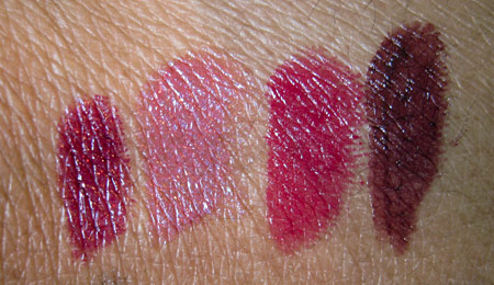 dior jazz club collection fall 2009 decadent plum 943 mauve royal 583 neglige pink 673 989 prune smoking dior addict lipcolor swatches