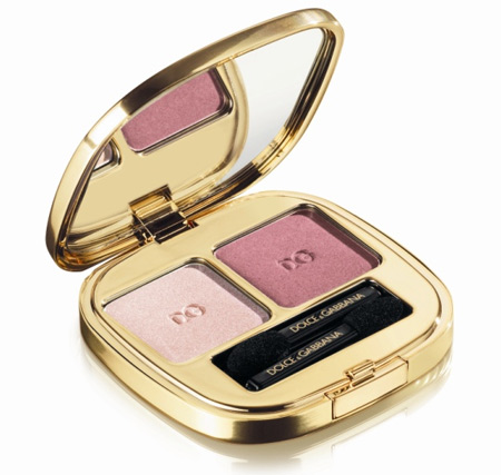 dolce gabbana the make up romantic collection fall 2009 smooth eye colour duo in rose 90