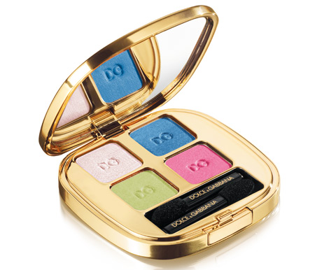 dolce gabbana the make up romantic collection fall 2009 smooth eye colour quad in dazzling 160