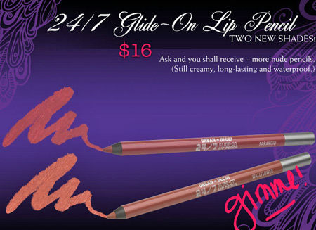 urban decay fall 2009 24 7 glide on lip pencil