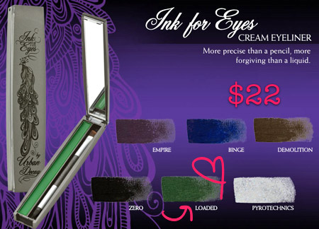 urban decay fall 2009 ink for eyes