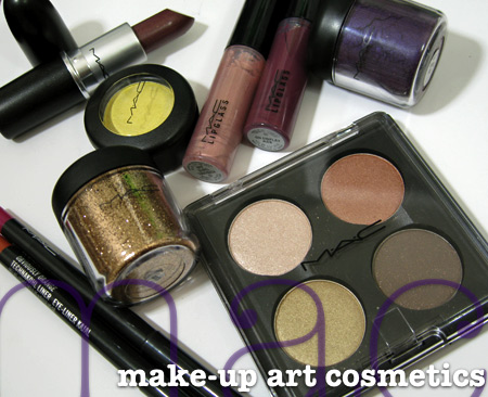 mac make up art cosmetics swatches