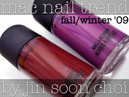 mac nail trend fw 09 swatches