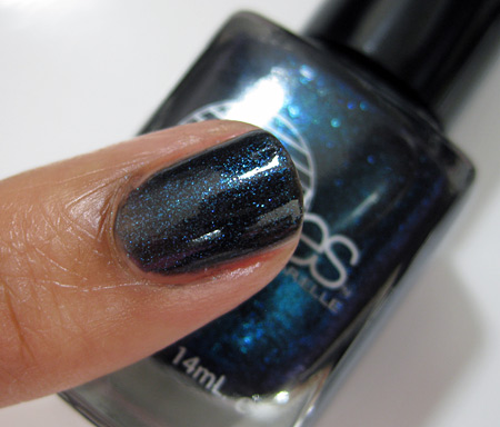 Barielle All Lacquered Up Swatches Blackened Bleu