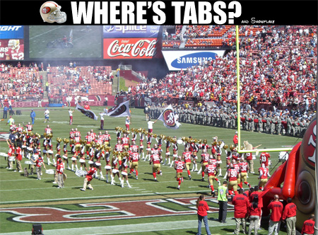 Tabs and the 49ers versus the Seattle Seahawks