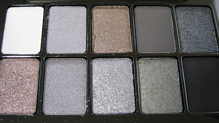 Bobbi Brown Chrome Palette Swatches Review eyes
