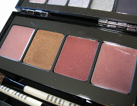 Bobbi Brown Chrome Palette Swatches Review lip