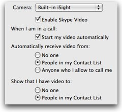 Skype set to auto answer calls