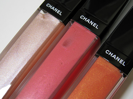 chanel holiday 2009 makeup collection golden cage aqualumiere gloss
