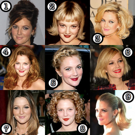Drew Barrymore Her Best Hair Makeup And Beauty Blog