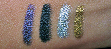 loreal hip high intensity pigments chrome eyeliner swatches
