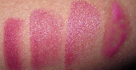 Clinique Black Tie Violets lip-swatches