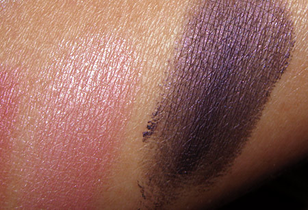Clinique Black Tie Violets swatches-shimmer-strips-liner