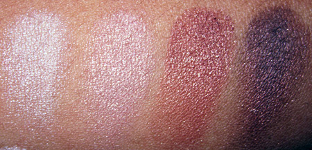 Lorac Silver Screen Palette Swatches warm eyeshadow