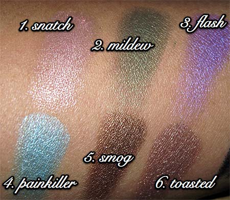urban decay show pony swatches all
